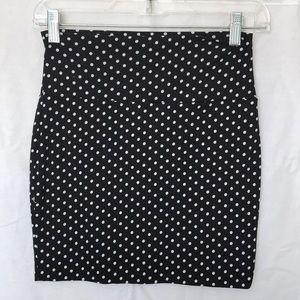 Wet Seal Polkadot Stretch Mini Skirt Size XS